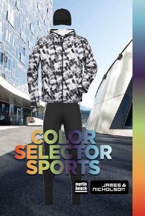 Vêtements de sport James & Nicholson® : Sélecteur de couleurs